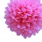 "14"" Cherry Blossom Pink Tissue Paper Pom Poms BULK (Set of 4)"