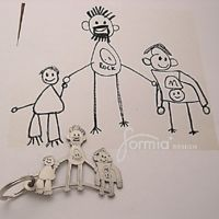 MOTHER'S AND FATHER'S DAY 2013. Turn your child's artwork into a super cute key chain!