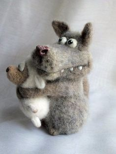 Wet Felting, Needle Felting, Sock Animals, Cute Animals, Felt Angel, Felt Dogs, Felting Tutorials, Little Critter, Needle Felted Animals