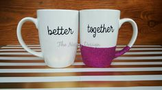 Better Together set of mugs by TheNoisyDesign on Etsy