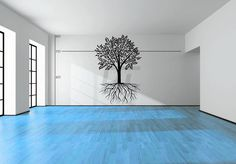 Tree and Roots Wall Graphic - Many Sizes Available - Vinyl Wall Sticker Decals & Decor - Customizable too! by StickAny on Etsy https://www.etsy.com/listing/227774826/tree-and-roots-wall-graphic-many-sizes