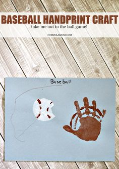 Have fun celebrating baseball season and summer fun with these easy Handprint Baseball Craft! Handprint crafts for kids are great for making memories together all year long! Summer Sports Crafts, Summer Crafts For Toddlers, Sport Craft, Art For Kids, Summer Activities, Learning Activities, Daycare Crafts, Baby Crafts, Preschool Crafts