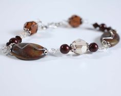 bracelet brown pearls sterling silver one of a kind by Phaness, $30.00