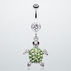 Under the Sea Turtle Belly Button Ring. This makes me want to get my belly button pierced