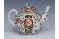 A Worcester Japan pattern fluted globular teapot and cover, decorated in the Imari palette sold £200 2017
