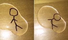 Watch the magical moment a stick figure comes to life | Daily Mail Online