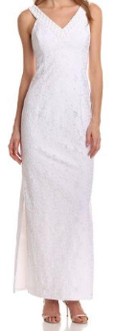 White simple floral lace dress
