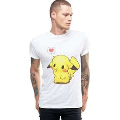 Kawaii Pikachu Love White Unisex T-shirt  #Kawaii #KawaiiPikachu #PikaTShirt #Pikachu3DTShirt #PikachuShirt #PikachuShirts #PikachuTShirts #PikachuTShirt #PikachuTeeShirt #PikapikaShop #PokemonTShirt #TShirt #Unisex #UnisexPikachuTShirt