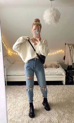 Girls Fall Outfits, Trendy Fall Outfits, Basic Outfits, Casual Winter Outfits, Teenager Outfits, Modern Outfits, Pretty Outfits, Stylish Outfits, Cool Outfits