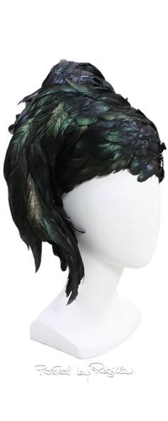 Regilla ⚜ 1960's Jack McConnell Sculptural Feather Hat