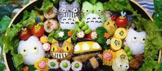Ghibli bento, picture by Nhan Tran, link: http://www.designfaves.com/2013/12/16-adorable-bento-boxes-inspired-anime