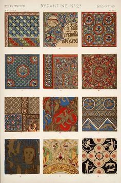 Jones, Owen, 1809-1874. / The grammar of ornament  (1910)    [Byzantine ornament. Plates 28, 29, 29*, 30], pp. PL. XXVIII-PL. XXX ff.    Page PL. XXIX