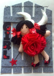felt fairy girl door and wall ornament