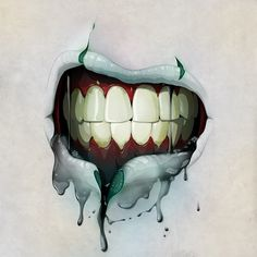 Cool mouth illustration