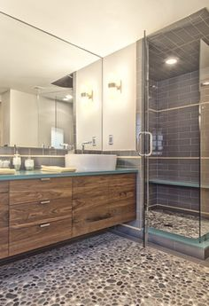 Huntington Woods Remodel - midcentury - Bathroom - Detroit - Andrea Serrico