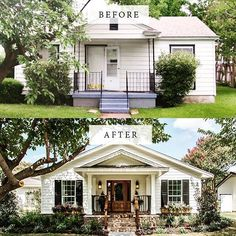 Curb Appeal Fixer Upper Front Curb Appeal Tips We Learned From Fixer Upper HGTV's . Before After Fixer Upper Fixer Upper Home Remodeling . Home and Family Home Exterior Makeover, Exterior Remodel, Casas California, House Makeovers, House Colors, Exterior Design, Diy Exterior, Bungalow Exterior, Cottage Exterior
