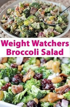 Weight Watchers Broccoli Salad Recipe by aida - Healthy Food - Salat Weight Watchers Broccoli Salad Recipe, Weight Watchers Salat, Weight Watchers Sides, Plats Weight Watchers, Weight Watcher Dinners, Weight Watchers Free, Skinny Recipes, Ww Recipes, Salad Recipes