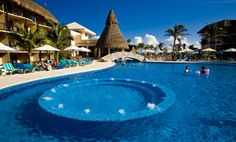 Riviera Maya all inclusive resorts and spas - Those in search of mystery will find plenty to ponder while touring through the mysterious sites of Mayan civilization. When it's time for a genuine fiesta, head to the famous town of Playa del Carmen Mexico Vacation, Vacation Resorts, All Inclusive Resorts, Beach Resorts, Hotels And Resorts, Vacation Rentals, Vacation Destinations, Air France, Tulum