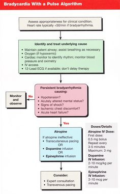 bradycardia. Does anyone know the *original* published source of these flow charts?
