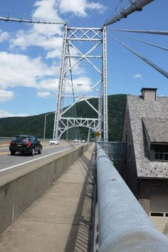 bear mountain bridge crossing the hudson river  lowest point on the appalachian trail  view from bear mountain bridge    bear mountain bridge   pinterest  rh   pinterest
