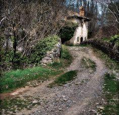 Part of the Camino de Santiago - the Way of St James in Northern Spain