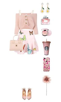 """Untitled #192"" by afivahapriani on Polyvore featuring RED Valentino, Rupert Sanderson, Chanel, Miu Miu, Christian Dior, Guerlain and The Casery"