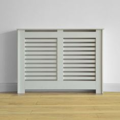 Virginia Radiator Cabinet Smooth White - (W)117.6 x (H)87.8 x (D)20.3cm