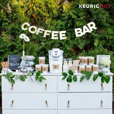 Coffee bar for wedding... awesome idea