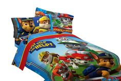 Paw Patrol bedding for boys is bright and colorful