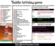 The toddler birthday game