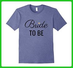 Mens Bride To Be T-Shirt, Black Text Gold Heart, Bridal & Party Large Heather Blue - Wedding shirts (*Amazon Partner-Link)