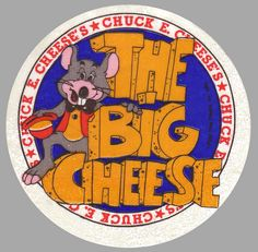 Chuck E Cheese Small #Sticker - 1983. Create your own custom stickers at BottleYourBrand.com