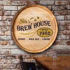 Personalised Jameson Whiskey Barrel End Style Wooden Pub Sign Advertising Decal