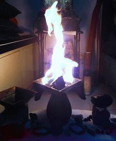 Agnihotra flame Alchemy , indoor , healing fire