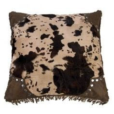 "Faux Hair-on-Hide Pillow - 18"" x 18"""