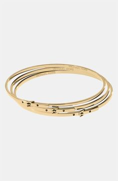 Michael Kors Buckle Bangles (Set of 3) available at #Nordstrom