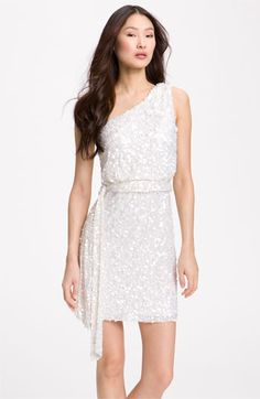 Aidan Mattox Sequin One Shoulder Dress available at Nordstrom