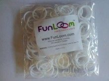 White FunLoom Rubber Bands