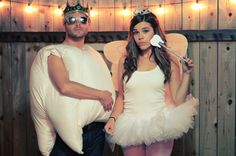 Halloween couples costumes: Tooth and Tooth Fairy