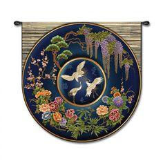 Fine Art Tapestries Cloisonne Lapis - Studios, Acorn - 3677-WH