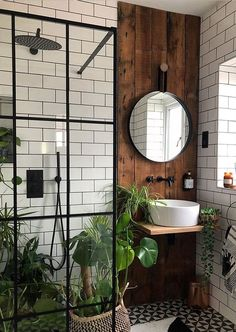 bohemian Bathroom Decor Trendy Bohemian Bathroom D - bathroomdecor Bad Inspiration, Bathroom Inspiration, Bathroom Inspo, Bathroom Interior Design, Interior Decorating, Bohemian Interior Design, Modern Small Bathroom Design, Small Bathroom Ideas, Small Bathroom With Bath
