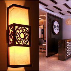 Pas cher Antique style chinois en peau de mouton lampe murale moderne en bois lampe de mur en bois massif millésime lit   éclairage 5043, Acheter  Lampes murales de qualité directement des fournisseurs de Chine:  Détails du produit