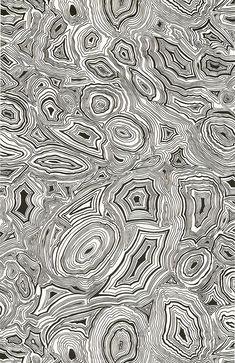Papier peint Malachite, collection Fornasetti (Cole & Son chez Au fil des couleurs)