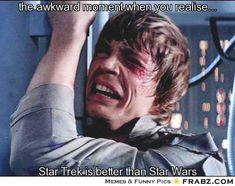 c7942e34a65f6153d4266abc7390b961 star wars meme star trek star trek meets star wars mr spock crossover star wars vs star,Star Wars Star Trek Meme