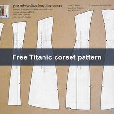 Free Titanic Era corset pattern