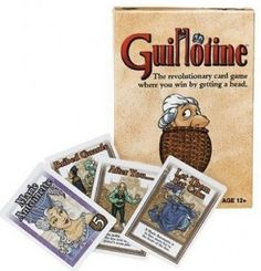 Five Board Games for Teen Library Programs - guillotine could tie in with a french revolution book!