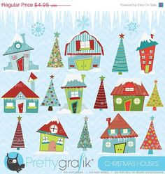 BUY 20 GET 10 OFF christmas house clipart commercial use vector graphics digital clip art digital images - by Prettygrafikdesign House Clipart, Image Paper, Image Clipart, Freebies, Christmas Clipart, Art File, Christmas Home, Christmas Program, Xmas