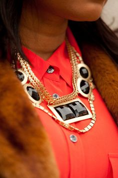 A Statement Necklace — Outfit looking dull? Pop on a statement necklace and watch as the compliments start rolling in. (From 29 Trends You Need To Try Before You Die) #Refinery29