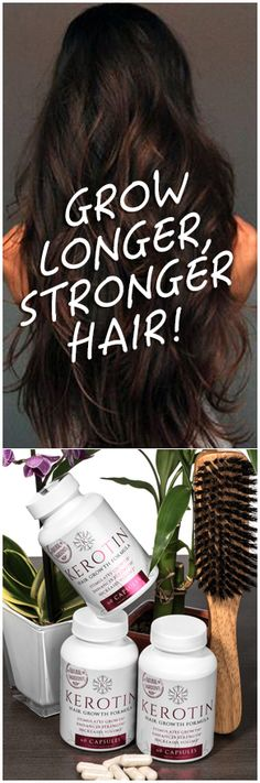 """I will never need to buy anything else because this has improved the quality of my hair and has helped it grow thicker and faster than ever. No more breakage and my hair is growing like crazy. I also have baby hair growing from my scalp! I ordered 3 bott Hair Remedies For Growth, Hair Growth Tips, Curly Hair Styles, Natural Hair Styles, Grow Hair, Hair Growing, Hair Care, Vitamins For Hair Growth, Skin Vitamins"