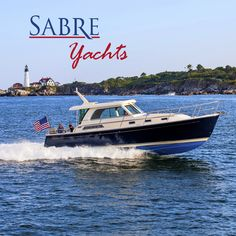 the Sabre 38 Salon Express contains all the classic charm and energetic spunk iconic of Sabre Yachts' designs. Family Boats, First Day Of Spring, Motor Yacht, Sailing, Around The Worlds, Photo And Video, Dreams, Craft, Instagram